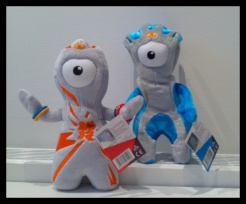 Wenlock (left) and Mandeville (right)