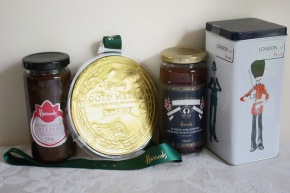 Onion Relish, Belgian Chocolate Medal, Strawberry Champagne Jam, Musical Biscuits