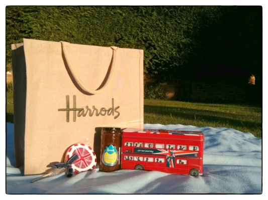 Shopping Bag, British Lollipop, Apple Chutney, Shortbread Bus