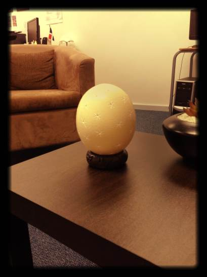 South African Carved Ostrich Egg