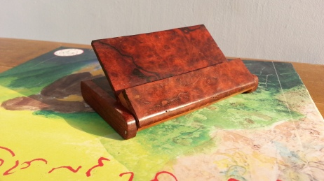 Wooden Business Card Box from Myanmar