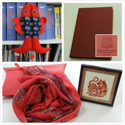 Double Fish, Scarf, Paper Cut and Notebook