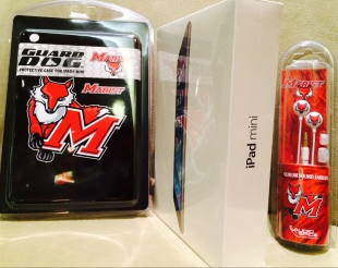 iPad Mini with Marist Case and Earbuds