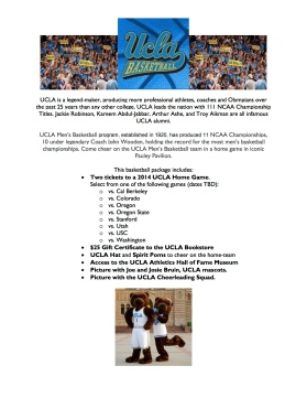 Silent Auction - Basketball package