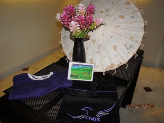Greeting Cards, Thai Umbrella, CMIS Bag and T-Shirt