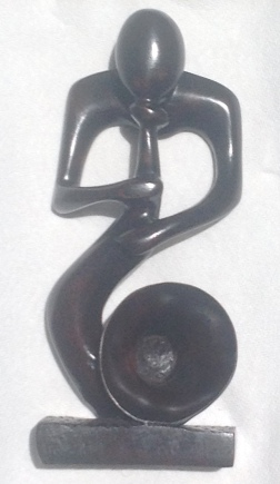 African Wood Carving - The Horn Blower