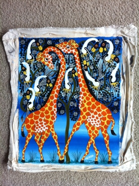 Tinga Tinga Painting of Giraffes
