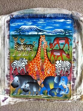 Tinga Tinga Painting of Mt Kilimanjaro
