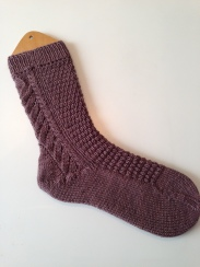 Hand-Knit Wool and Silk Socks