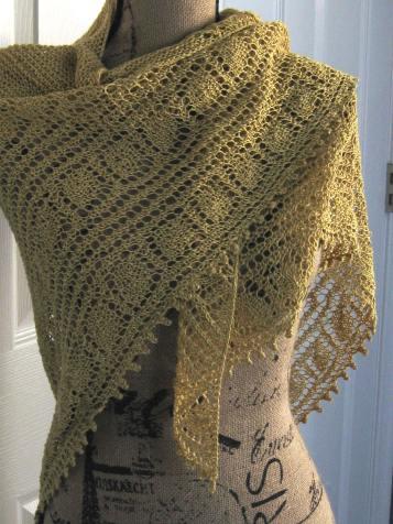 Yellow linen shawl 1