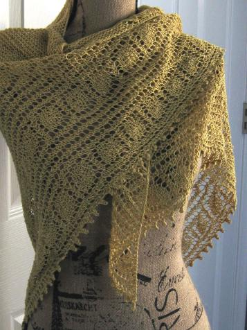 Yellow linen shawl 1